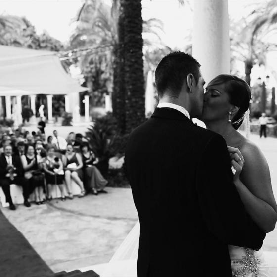 Jardines de la Hacienda. Cine de boda en Valencia