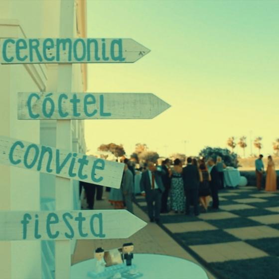 Cine de boda en el Hotel Las Arenas.
